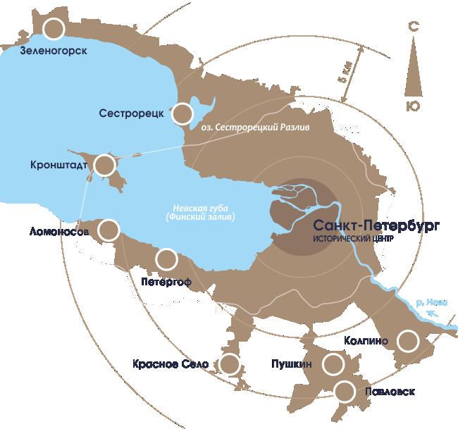 Общая карта Петербурга